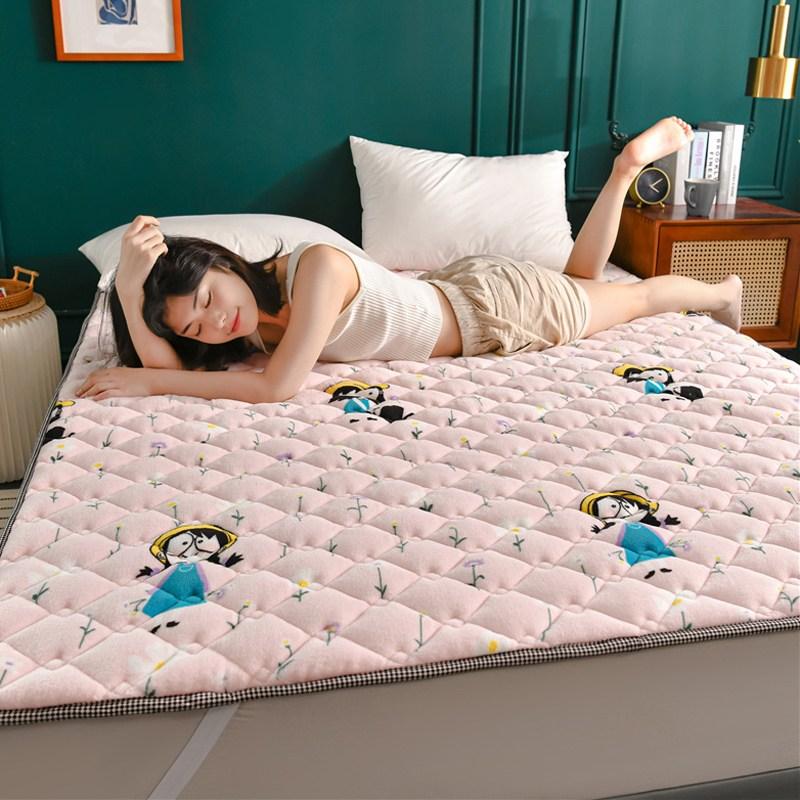 토퍼 템퍼 매트리스 침구 기타 겨울 쿠션 접이식 침대 기모 융털 매트, AC_1.0 x 2.0m