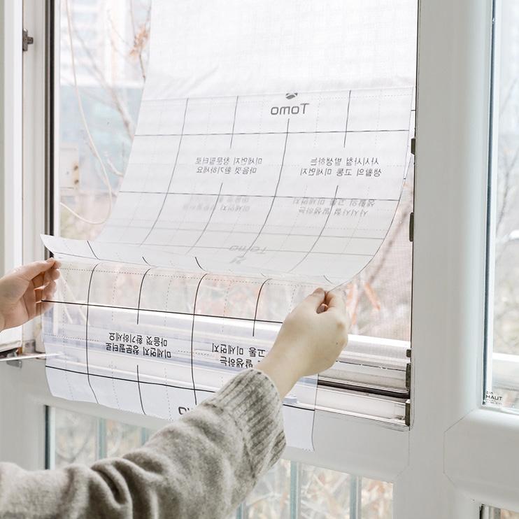 미세먼지창문필터 붙이는 촘촘 나노 셀프 방충망 먼지 필터, 1개
