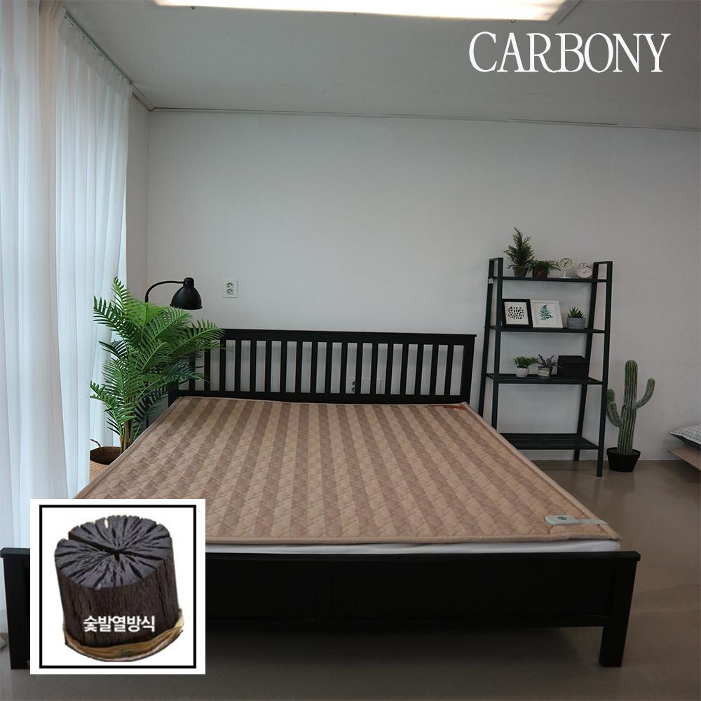 2020년 카보니 숯 발열 탄소매트 줄무늬 베이지 싱글, 단품