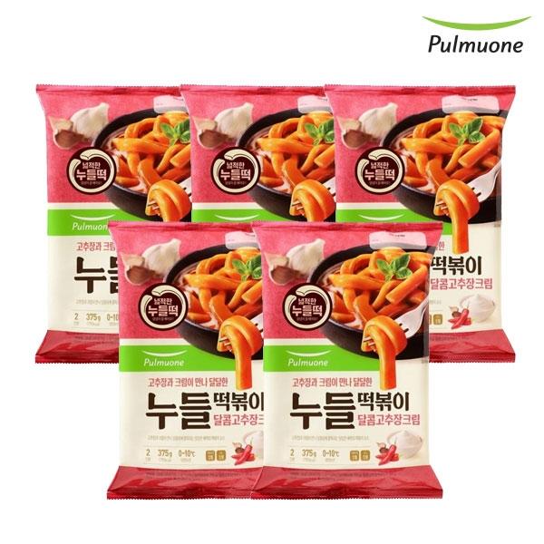 풀무원 [풀무원] 달콤고추장크림 누들떡볶이 2인x5봉, 단일상품, 기타, 기타