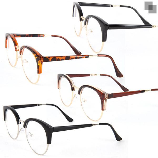 머스트몰 옆라인반테 반테안경 감성안경 안경테 데모렌즈 패션안경 뿔테안경 철테안경