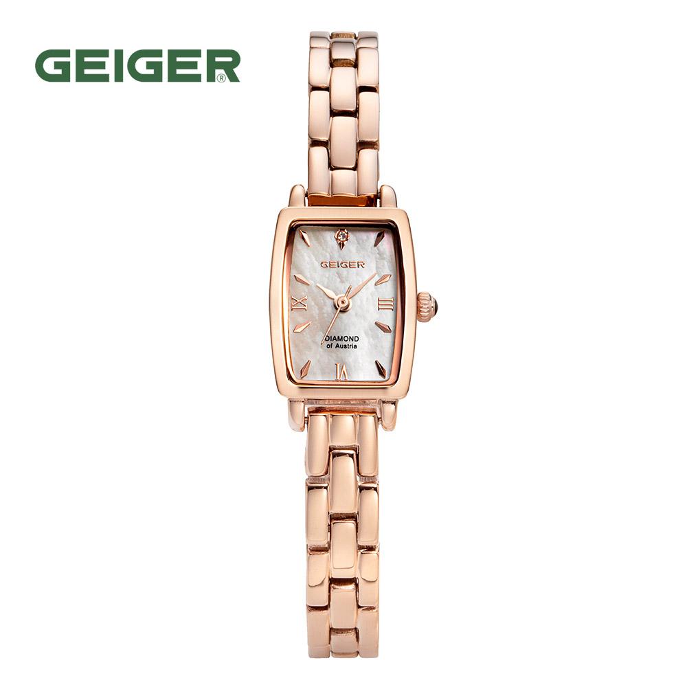 가이거[GEIGER] [백화점 정품] 가이거 여성용 다이아몬드 팔찌 시계 GE 1209 RG (가죽밴드 증정)