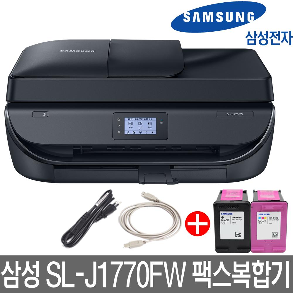 삼성전자 SL-J1770FW 팩스복합기 잉크젯 복합기, 옵션) SL-J1770FW 팩스복합기정품잉크 기본포함