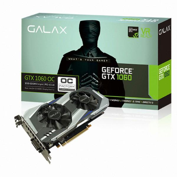갤럭시코리아 지포스 GTX1060 OC D5 3G 그래픽카드, 갤럭시코리아 지포스 GTX1060 OC D5 3GB