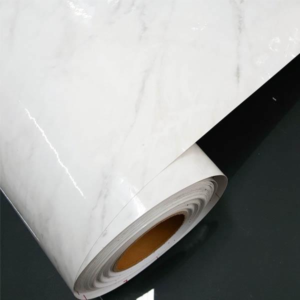 벨라 주방리폼 싱크대상판시트지 유광 대리석마블 인테리어필름지, 화이트