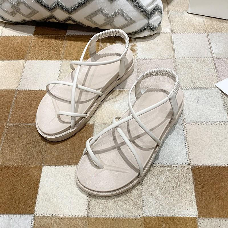 여성 여름 핏아우터 블랙 발가락을 겯다 클래식 글레디에이터 논슬립 미끄럼방지 소프트 밑창 비치슈즈