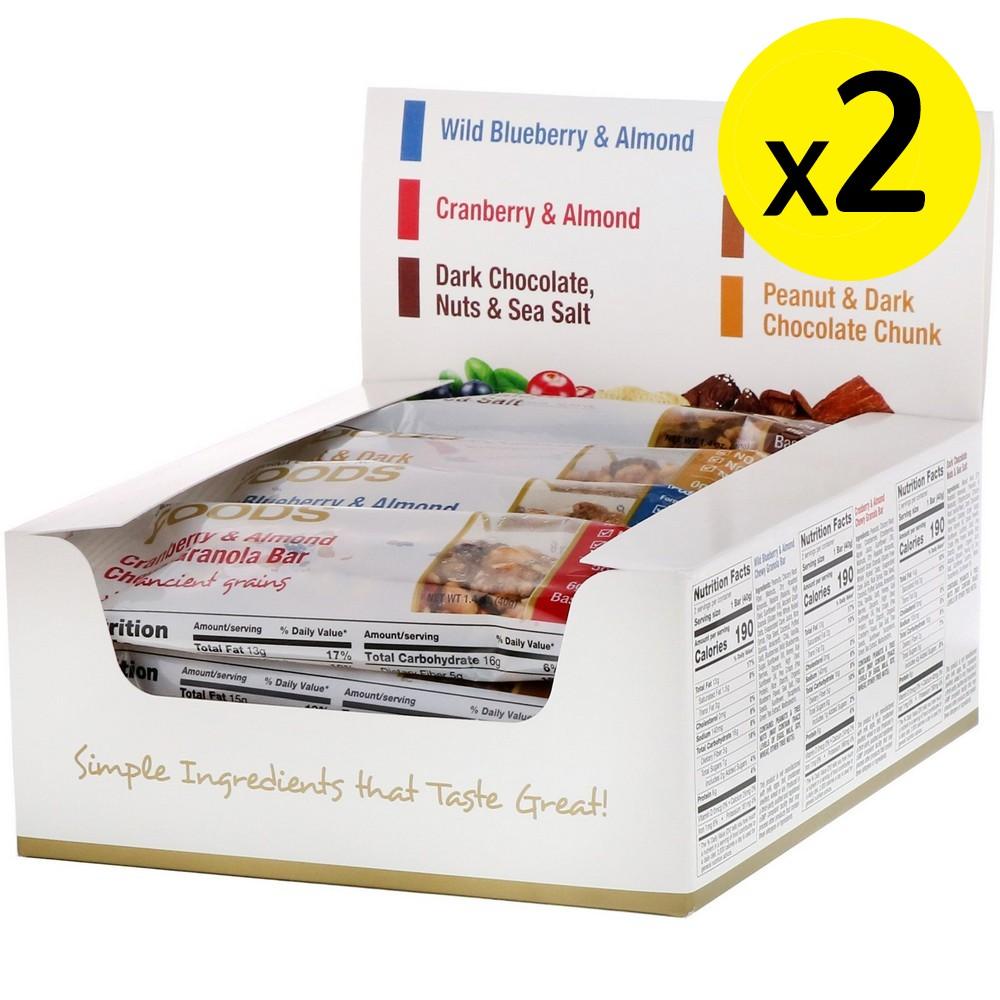 [미국직구]California Gold Nutrition 식품 버라이어티 팩 스낵바(Variety Pack Snack Bars) 바 12 개 바 1 개 당 1.4oz (40g) 2개, 선택, 상세설명참조
