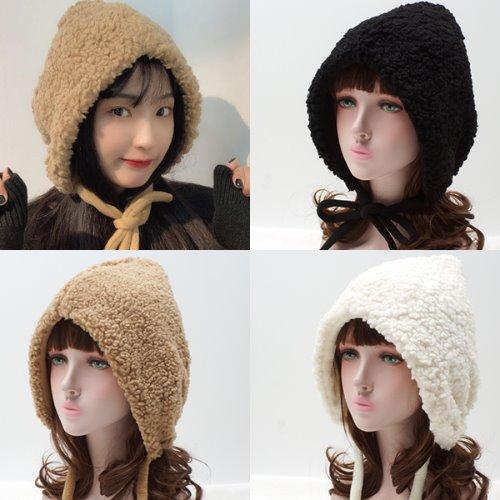 오너굿 뽀글뽀글이 보넷 모자(S1351-뽀글뽀글이)겨울 귀도리 털모자
