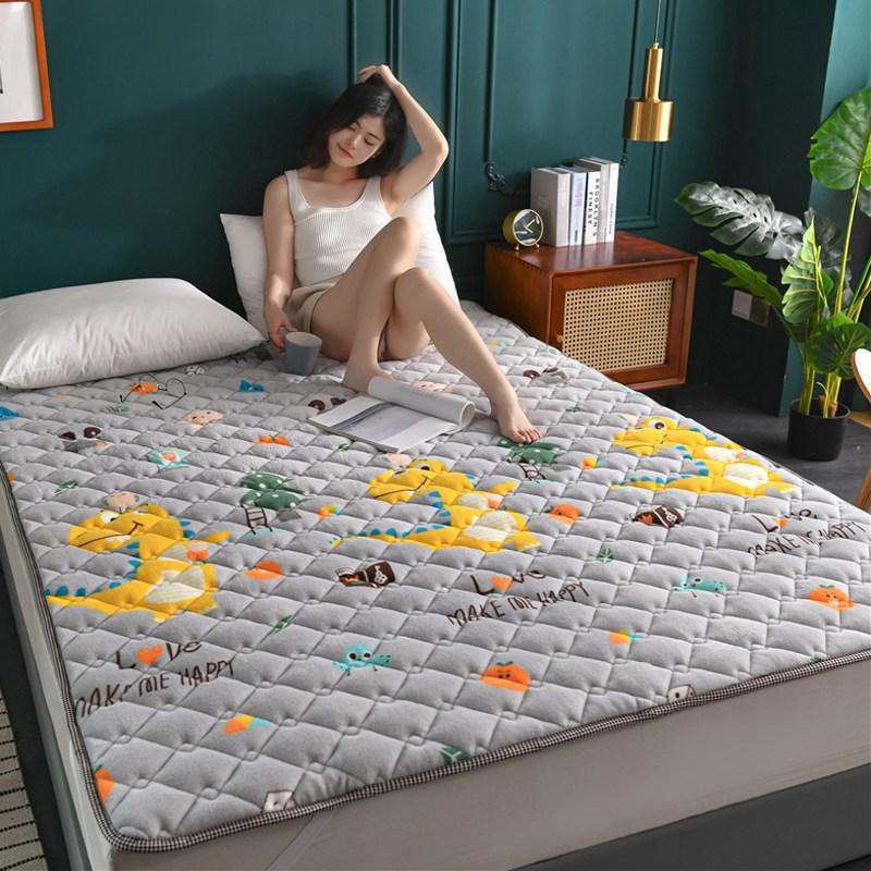토퍼 템퍼 매트리스 침구 기타 겨울 쿠션 접이식 침대 기모 융털 매트, AE_1.0 x 2.0m