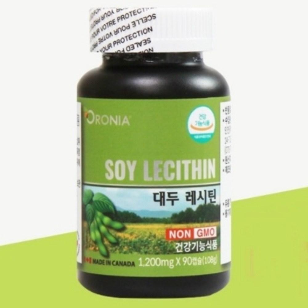 오로니아 콜레스테롤낮추는방법 오로니아대두레시틴90캡슐 레시틴효능, 90캡슐, 1200mg