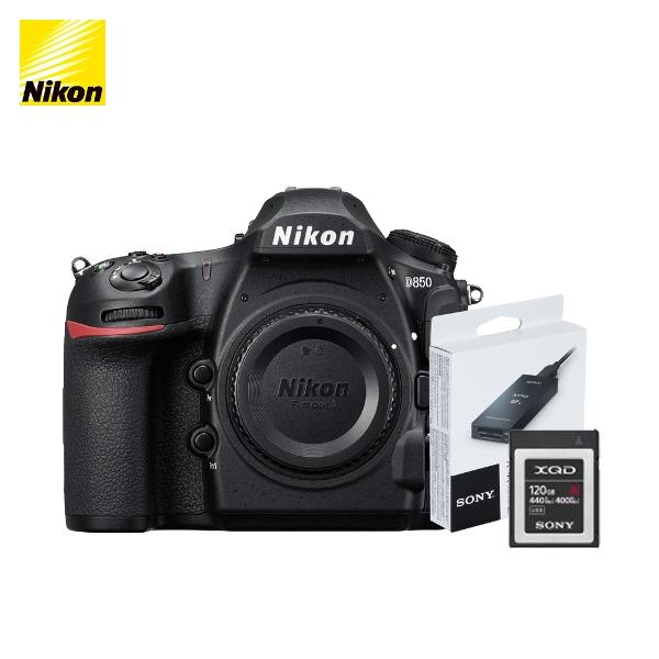 니콘 D850 + XQD 120G 메모리 MRW-E90 리더기, 니콘 정품 D850 패키지