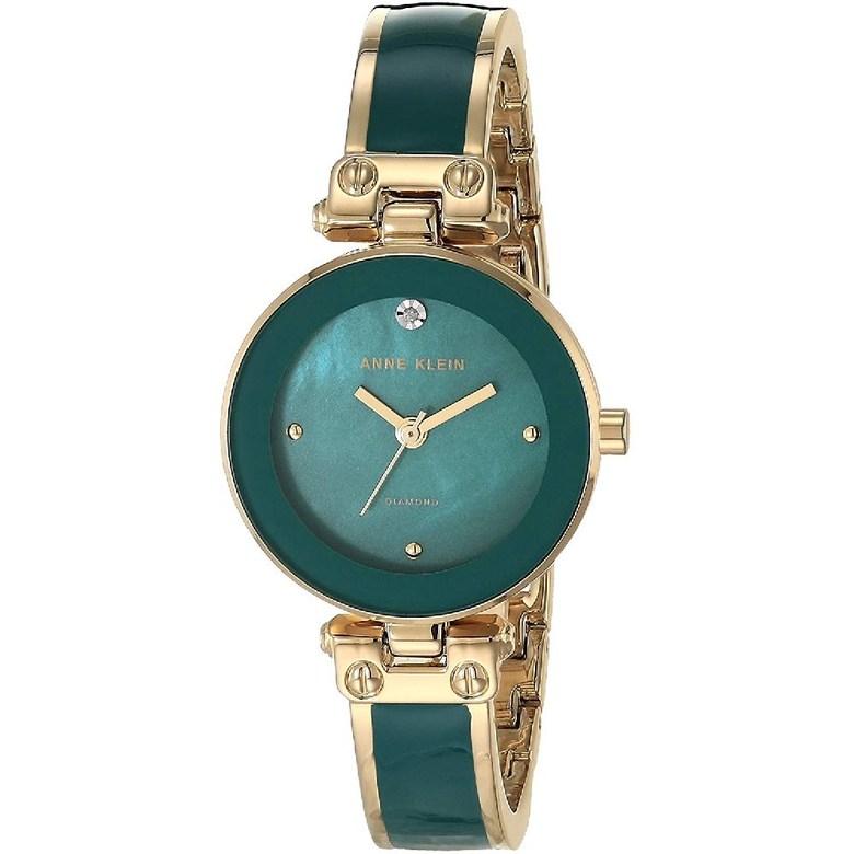Anne Klein 앤 클라인 여성의 다이아몬드 악센트 팔찌 시계