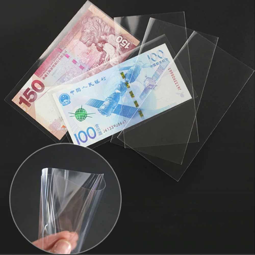 지폐홀더 100Pcs 동전 앨범 PVC 종이 돈 코인 수집, 마구판다 지폐홀더 BL08996