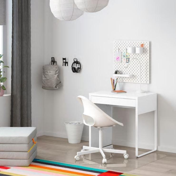 IKEA 이케아 1인용 고등학생 원룸 컴퓨터 책상, 화이트