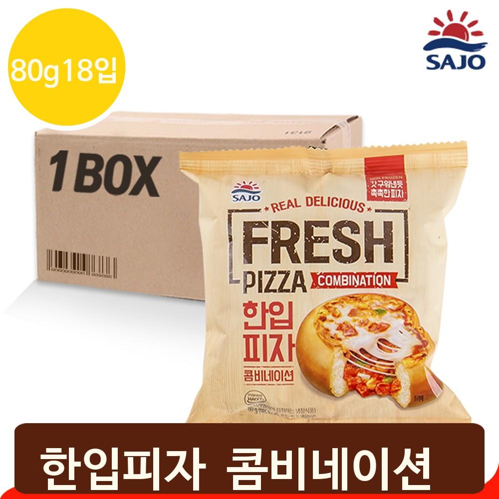 콤비네이션 한입피자 80gx18입 냉장피자 간식 간편식, 단일상품