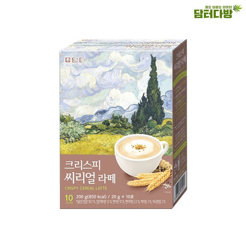 은하마켓 담터 크리스피 씨리얼 라떼 10스틱 명화라떼 라떼분말 1