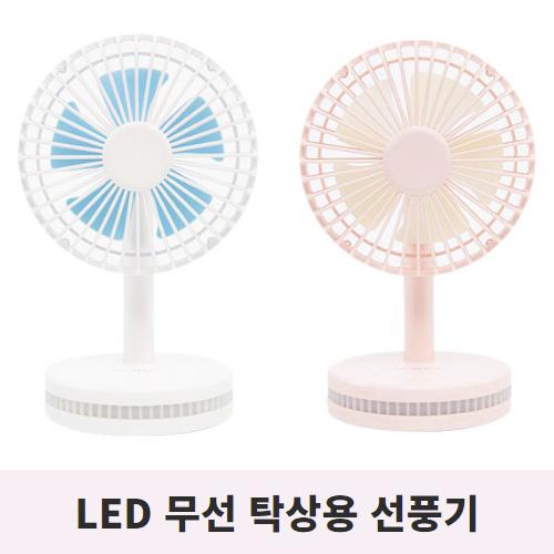 다이소 LED 무선 캠핑선풍기 써큘레이터 휴대용 소형선풍기, 1+1 화이트+핑크 (POP 5693967101)