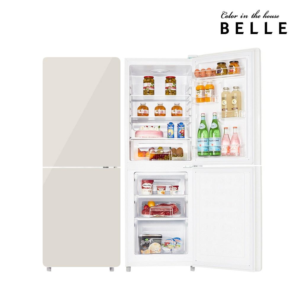 벨 레트로 글라스 소형 냉장고 W20CKBB 1등급 181L 상냉장