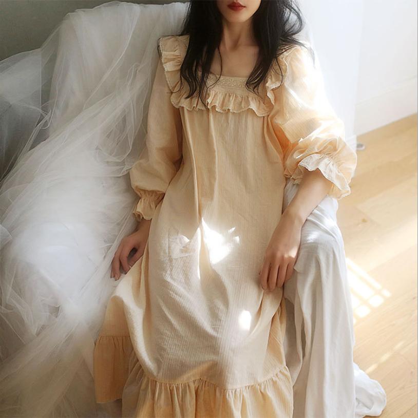 다온 순면 뷔스티에 레이스 원피스 공주 잠옷 파자마