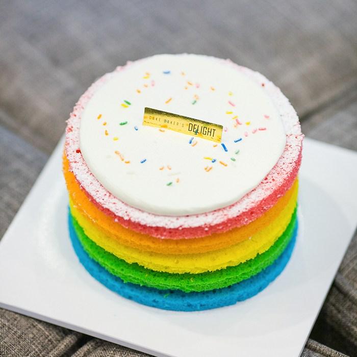베이커스 딜라이트 레인보우 케이크, 430g, 1개