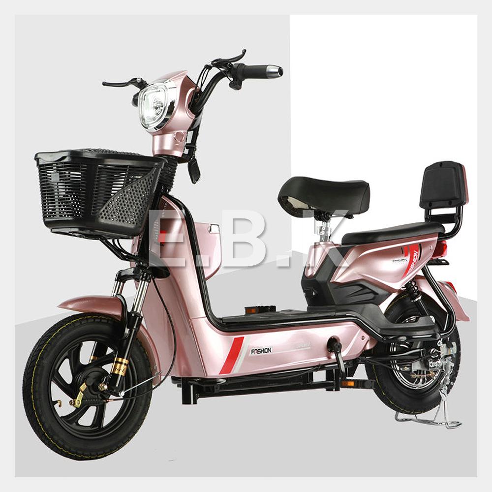 전기 자전거 2020 최신형 GX 2인용 48V 12A_20A 350W 전동스쿠터 납산 리튬배터리 주문즉시 공장출고 2일내선적 전동 스쿠터 모터 배터리1년보증 추가 배터리 구입가능, 로즈골드