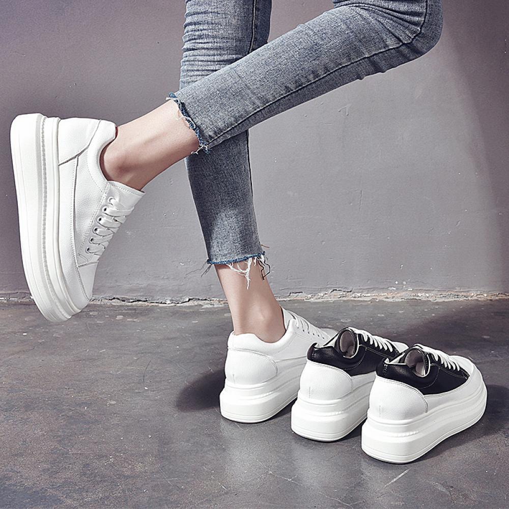 여성 키높이 운동화 5.5cm 스니커즈 운동화 신발 Nr5ufh