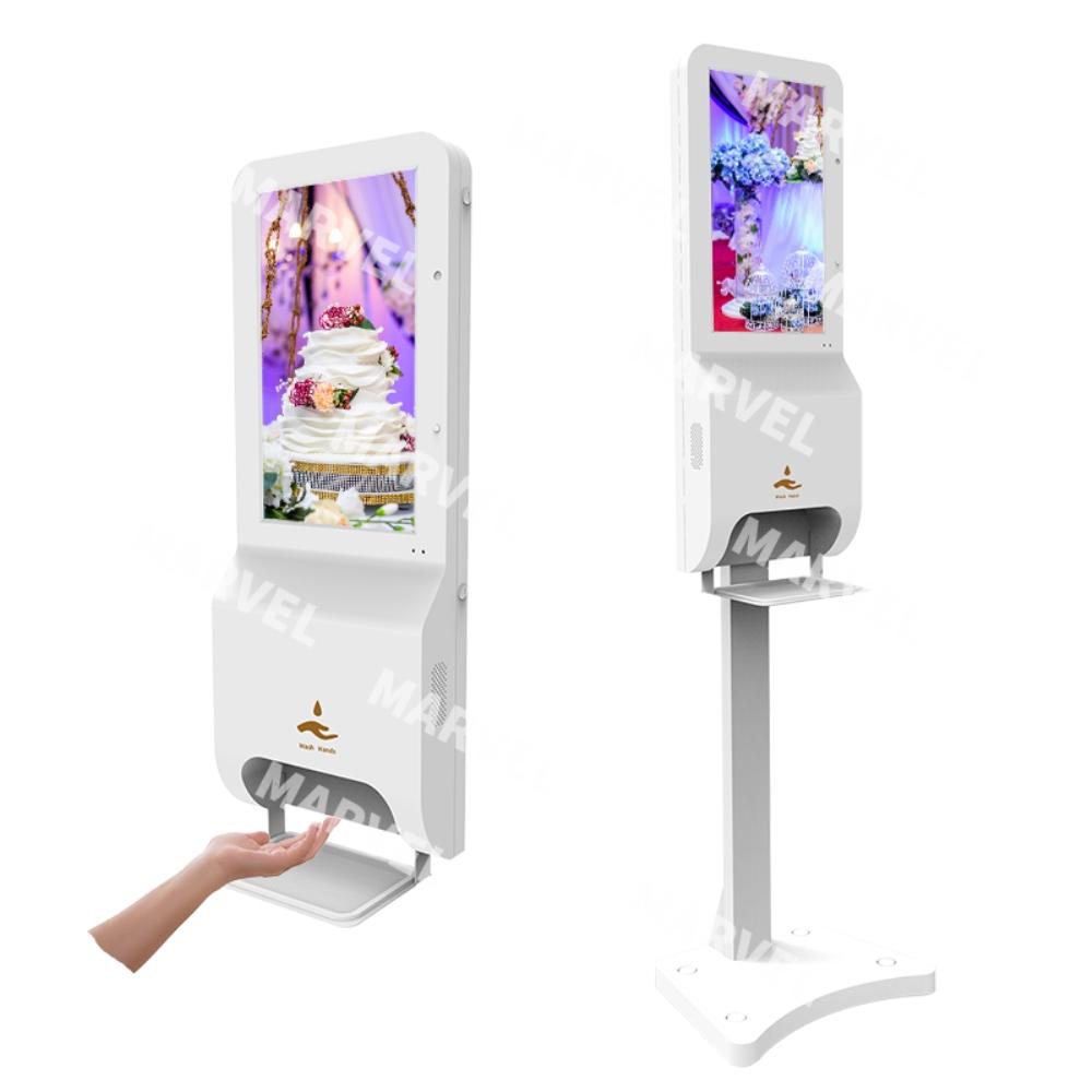 모니 스탠드 거울형 화면 비대면 스마트 얼굴인식 비접촉 발열 체크 체온계 적외선 온도 센서 열체크 K2 한국어 지원, 프리미엄 (안면인식 온도 측정)