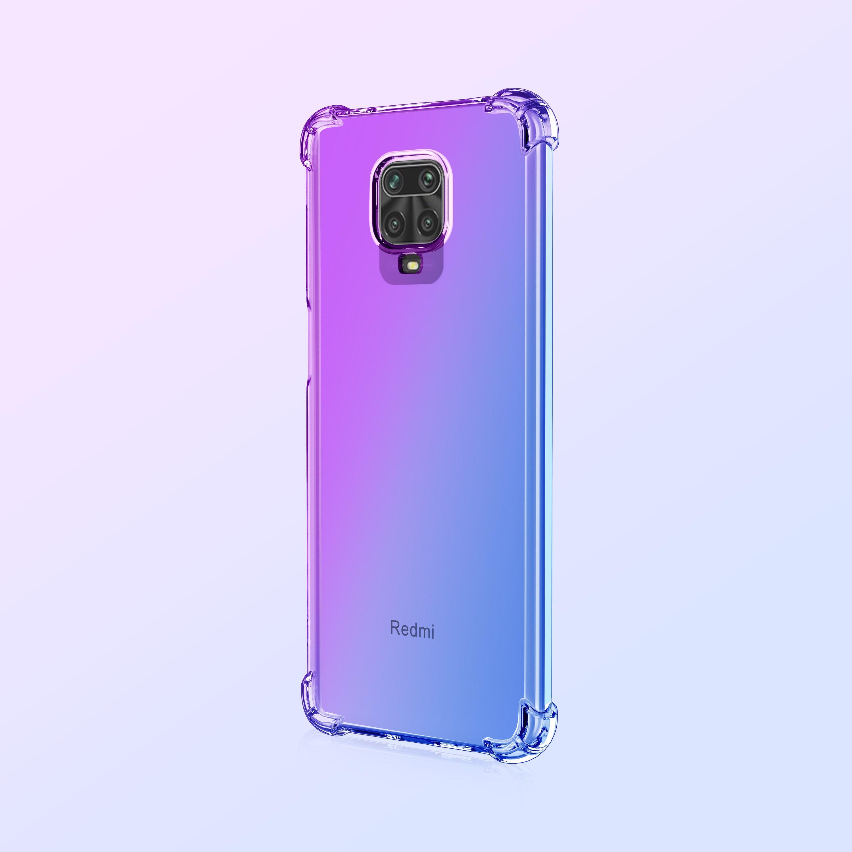 샤오미 홍미노트 9S 투명 레인보우 범퍼 케이스 휴대폰