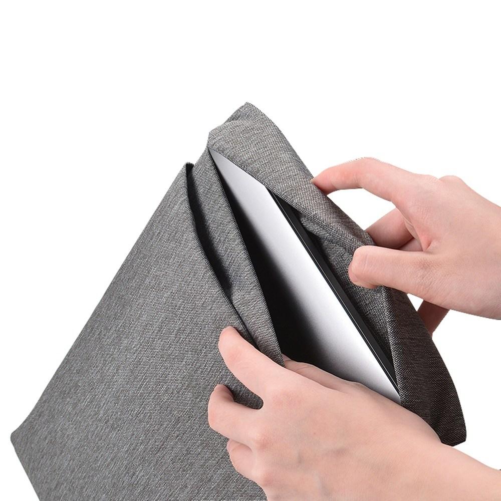 브랜드 맥북 프로 16인치 클래식 친환경 방수 파우치 케이스, 그레이