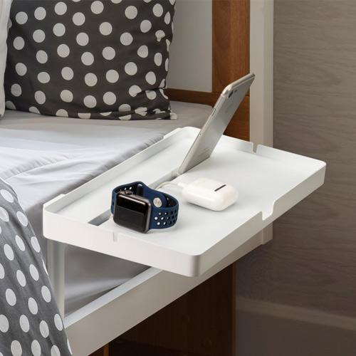 침대 사이드 테이블 핸드폰 태블릿 베드 거치대 침실 협탁 안경 핸드폰 선반 트레이 받침대, Small(20cm x 15cm)