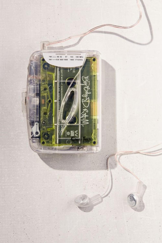 추억의 80년대 레트로 투명케이스 클리어케이스 워크맨 마이마이 요요 아하 휴대용 라디오 카세트 플레이어