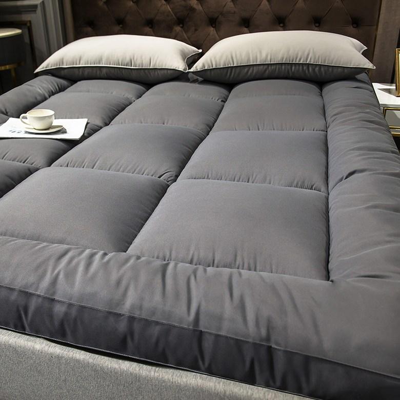 해외직구 두꺼운 침대 호텔 발열 토퍼 매트 접이식 바닥에까는 이불 무중력 120 150, 그레이