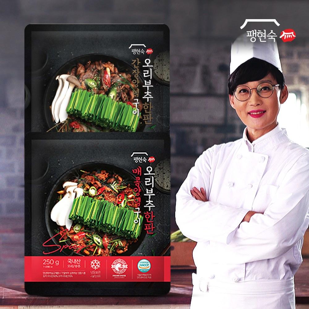 팽현숙 오리부추 한판(250g)5판(매콤3+간장2)