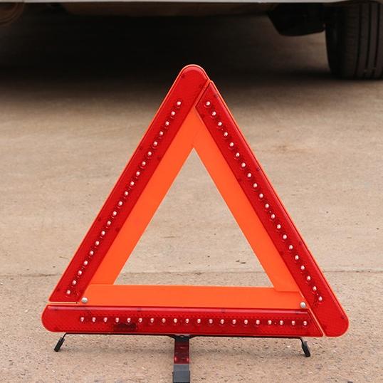 불꽃신호기 접이식 LED 드렁크 삼각대 안전 비상 삼각대 유도등 사고방지 경광등 교통사고 안내 경고등 a