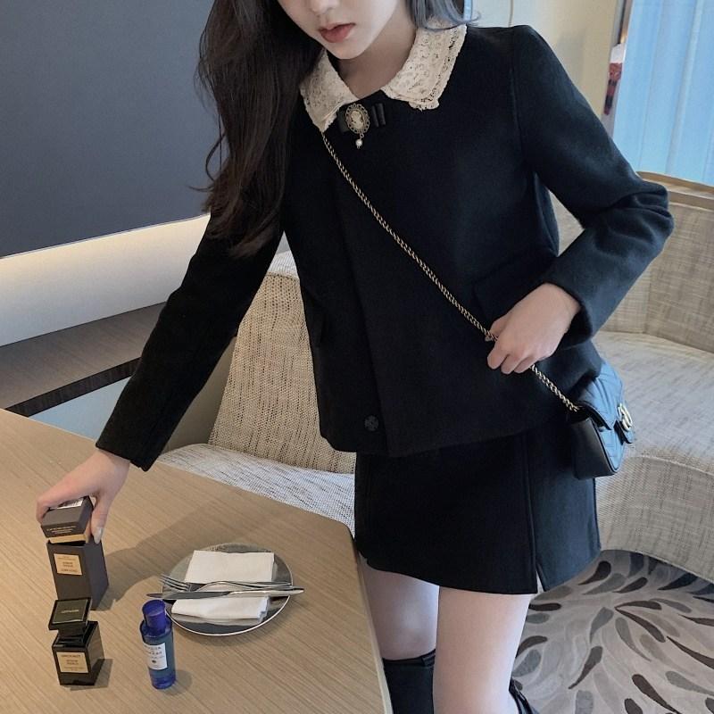 캣츠미 키작은여자옷 초 가을 키커 보이는 여승무원 경숙 셀럽 스윗 투수영복 룩 스커트 여성