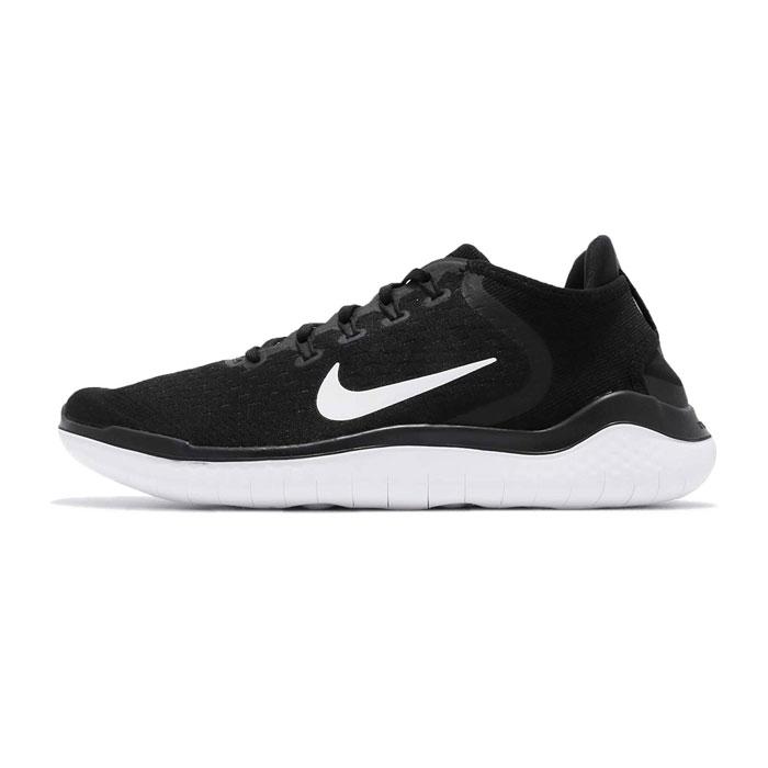 나이키 프리 런 2018 블랙 화이트 942836-001 / Nike Free RN Running Shoes 942836-001