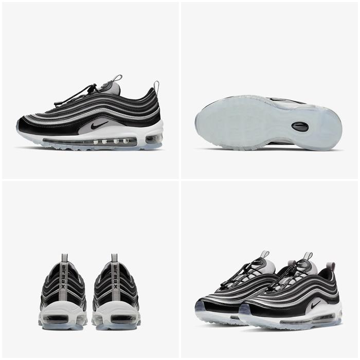 (해외배송) 나이키 100스퀘어 나이키 에어맥스97 토글백 GS 블랙 그레이 BQ8437-001 Nike Air Max 97 RFT 100스퀘어