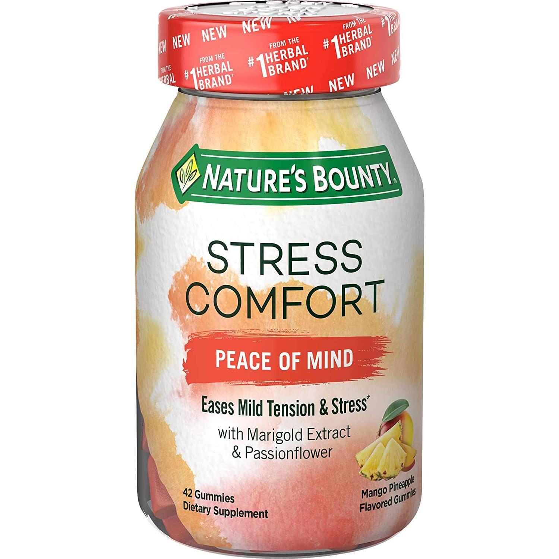 네이처스바운티 Natures Bounty 스트레스 해소 심신안정 영양제 젤리타입(망고 파인에플맛) 42정 기타영양제, 상세페이지 참조, 상세페이지 참조