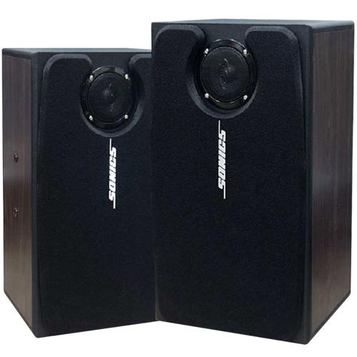 소닉스 스피커 6인치 PS-105 (BLACK CHERRY 2톤칼라) 1조(2개) 풍부한 중저음 부드러운 음색 가정 매장 업소용 PA 스피커 - STM, 스피커 PS-105 1조(2개)