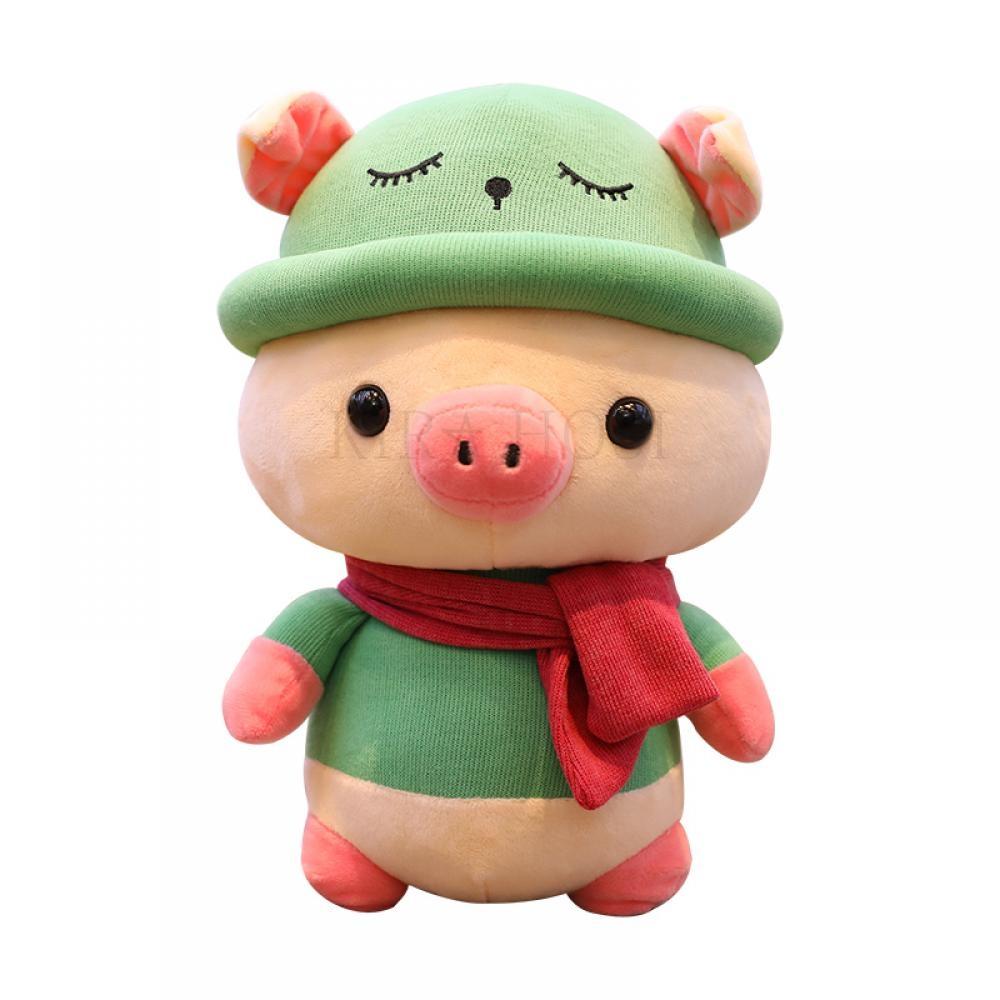 kirahosi 해달 5 캐릭터 피그 대형 쿠션 인형 카페 돼지 봉제인형+덧신 증정 109 CB199uh, 핑크, 25CM