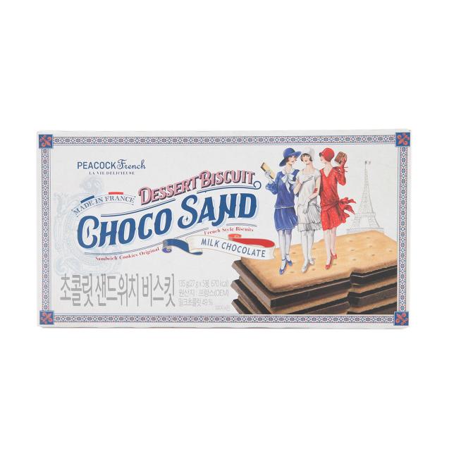 피코크 초콜릿 샌드위치 비스킷 135 g ( 27gx5 ), 1개