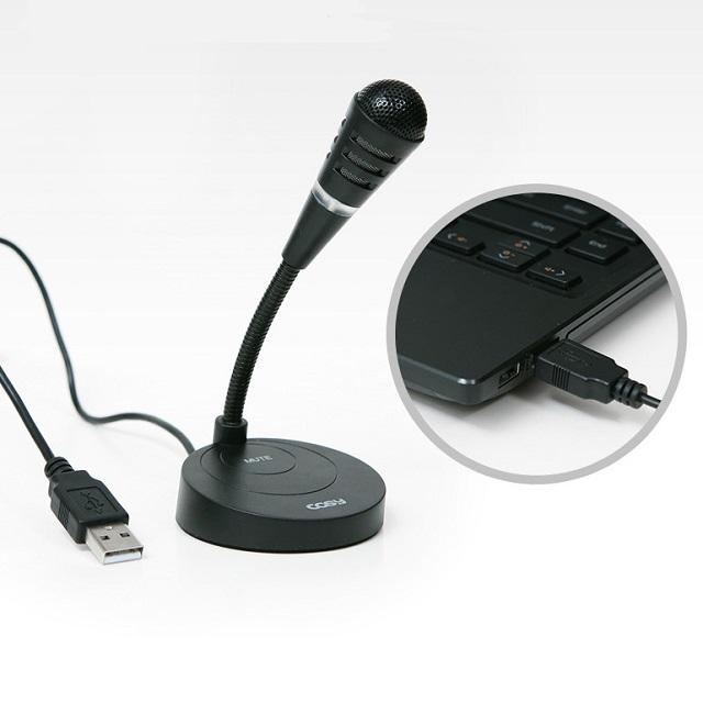 코시 USB 노트북 PC 컴퓨터 마이크 단일 지향성 구스넥 개인방송 화상회의 채팅 강의, MK1343UB