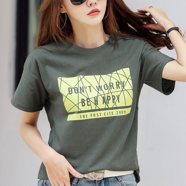 디에프 안디 스퀘어 티셔츠 여성반팔 여름티셔츠 여성티셔츠