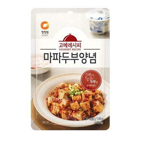 청정원 고메레시피 마파두부양념 140g 6봉, 단일상품