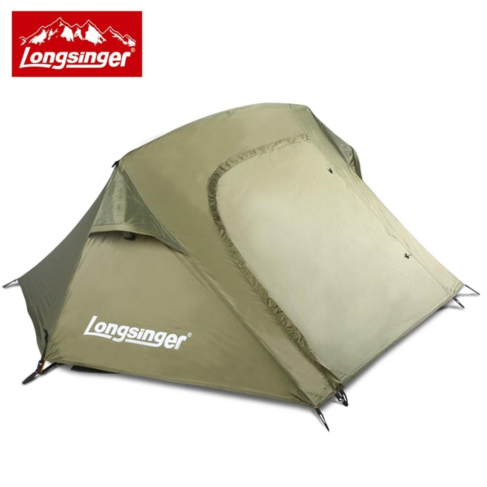 롱싱어 1인용 봄가을용 원터치 방수 텐트, 군방색