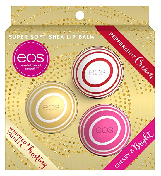 eos Evolution of Smooth (1) Box Set Super Soft Shea Lip Balm 3pc Holiday Edition Spheres - Flavors:, 단일상품, 단일상품