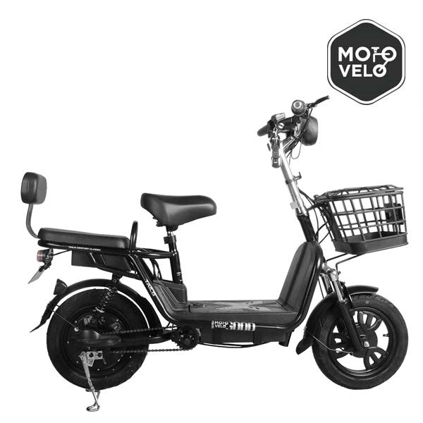 전기자전거 2020 모토벨로 A6 48v 12AH 60km 스쿠터, 블랙