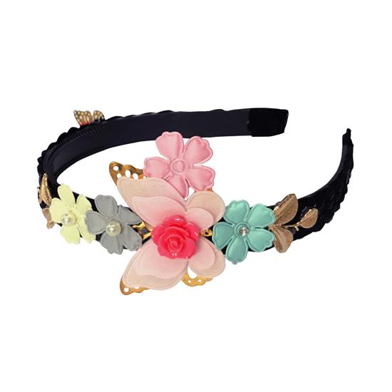 QT4-62 꽃나비 머리띠 여아용