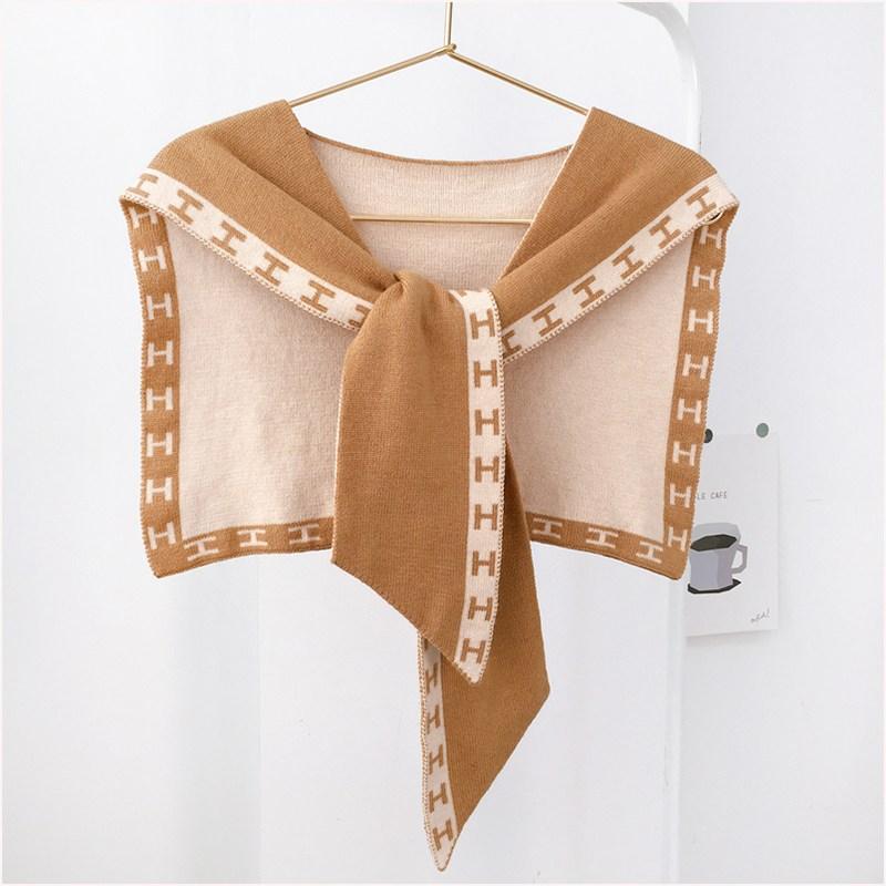 어깨숄 니트 작은숄 밖에걸쳐입는스타일 온실 어깨걸치는 여름시즌 스카프 겸용 코디하기쉬운 모조카라 얇은타입 경추보호 머플러