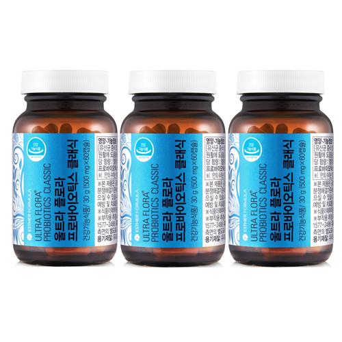 여에스더 울트라 클래식 유산균(3병 6개월분), 1개, (500mg x 60캡슐) x 3병 (6개월분)